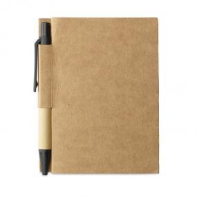 Notebook (80 fogli neutri) in cartone riciclato e penna...