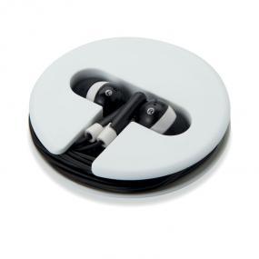 Auricolari con un astuccio rotondo di silicone/ABS. Cav...