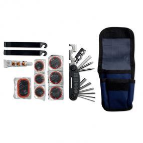 Kit riparazione bicicletta composto da 15 accessori