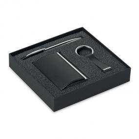 Set business in confezione regalo nera composto da: 1 p...