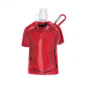 Borraccia morbida a forma di t-shirt in BPA, con mosche...