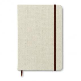 Notebook A5 con 96 pagine a righe, con banda elastica e...