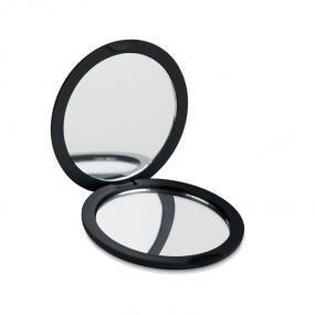 Specchietto doppio con finitura gommata: un lato ingran...
