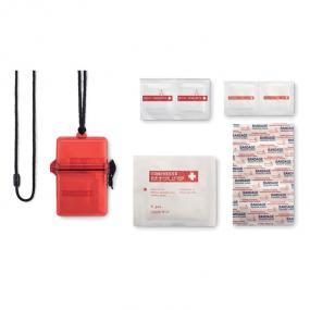 Kit primo soccorso waterproof composto da: 5 cerotti, 2...