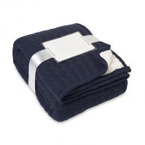 Coperta a maglia intrecciata con strato in acrilico 330...