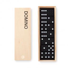 Domino in plastica in confezione in legno.