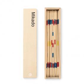 Mikado in legno in confezione in legno.