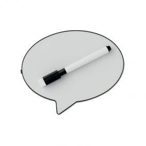 Lampada per messaggi a forma di fumetto, un pennarello ...