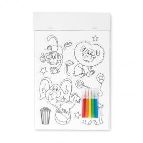 Set animali magnetici da colorare con 5 pennarelli incl...