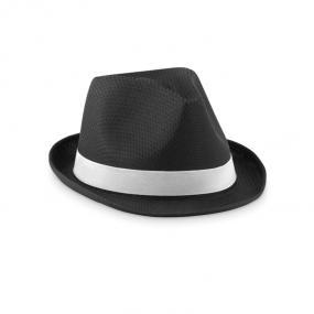 Cappello simil paglia in poliestere colorato con banda ...