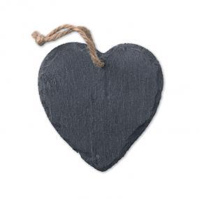 Decorazione in ardesia a forma di cuore. Con cordino pe...