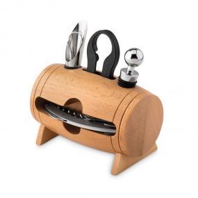 Set vino a forma di boote composto da: coltello, tappo,...