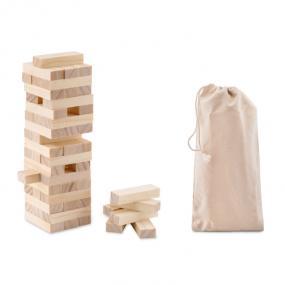 Torre rovesciabile in legno (54 blocchi). In pouch di c...