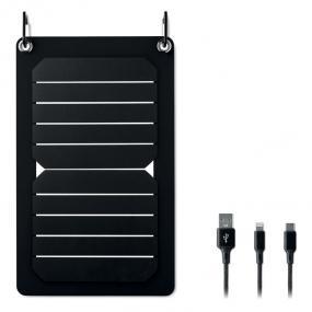 Caricatore portatile con pannello solare 5.3W. Resisten...