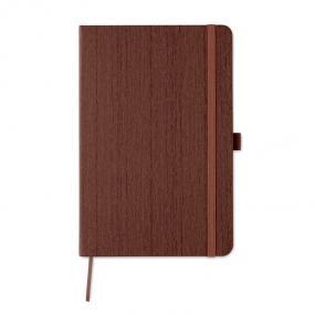 Quaderno A5 con copertina morbida effetto legno. 80 pag...
