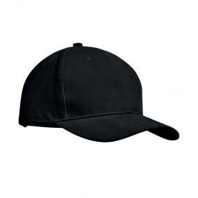 Cappellino da baseball a 6 pannelli, cotone pettinato p...