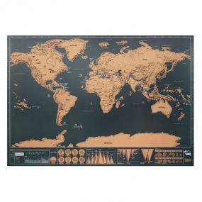 Cartina geografica del mondo in carta cromata. Confezio...