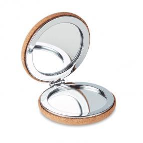Specchietto doppio con cover in sughero.