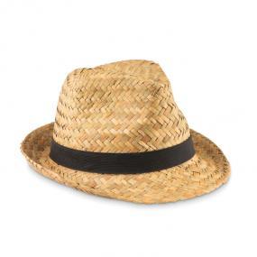 Cappello in paglia naturale con banda in poliestere. In...