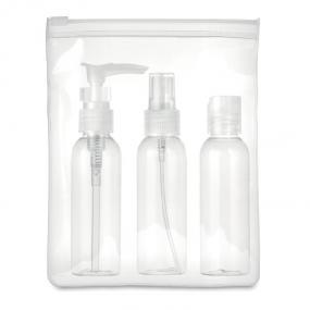 Set viaggio in pouch in EVA con 3 bottigliette vuote in...