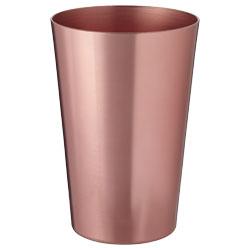 Bicchiere in alluminio con finiture in rame. Capacità:...