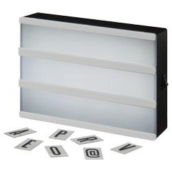 Crea il tuo messaggio con questa scatola luminosa decor...