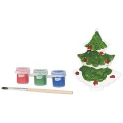 Set da dipingere con albero in ceramica, pennello e ver...