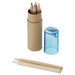 6 matite colorate in confezione cilindrica in cartoncin...