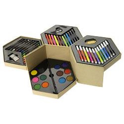 12 pennarelli, 12 matite colorate, 12 pastelli a cera, ...