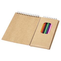 8 matite colorate, 6 pagine da colorare e 18 fogli bian...