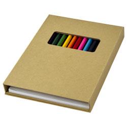12 matite colorate e 10 pagine da colorare, 40 pagine b...