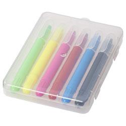 Custodia in plastica contenente 6 matite rettangolari. ...