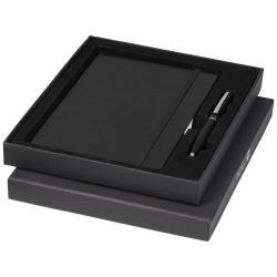 Taccuino nero (formato A5) e penna Luxe nera forniti in...