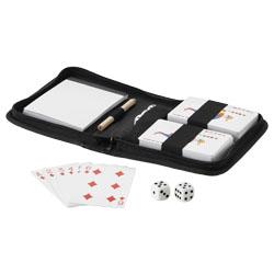 2 mazzi di carte, 5 dadi, blocco con matita inclusi nel...