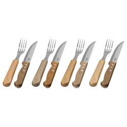 Il set contiene 4 coltelli da bistecca e 4 forchette. F...