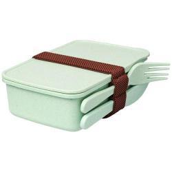 Fornito con forchetta, coltello ed elastico per tenere ...