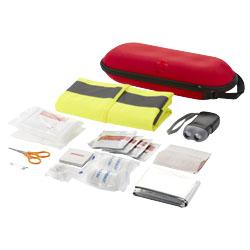 Questo pratico kit di primo soccorso da auto include un...