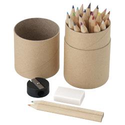 24 matite colorate, gomma per cancellare e temperamatit...