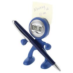 Orologio con sveglia, porta memo, porta penna e porta t...