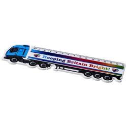 Righello in plastica rigida a forma di camion con marca...