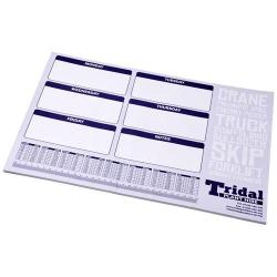 Blocco note Desk-Mate® di colore bianco e formato A2. ...
